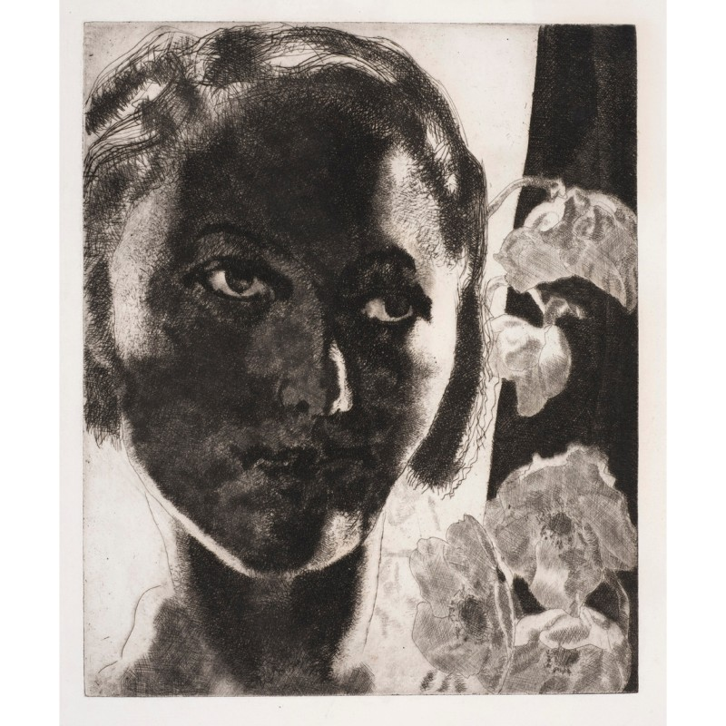 Eva against the Window, 8th state, 1940. Etching, 32.9 x 27 cm