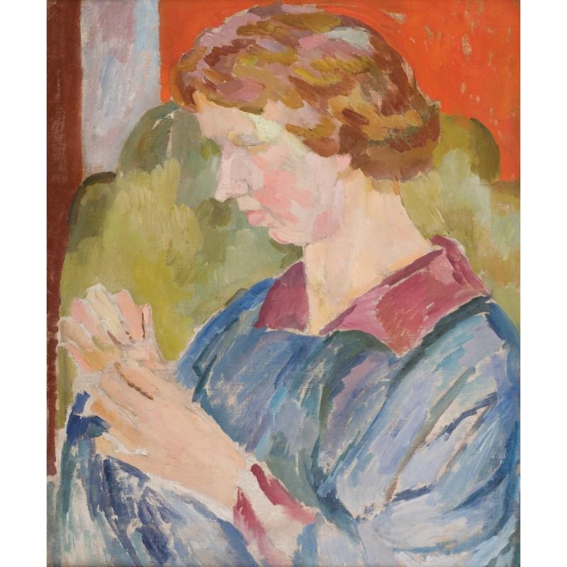 Vanessa Bell, Portrait of Faith Henderson, c. 1917