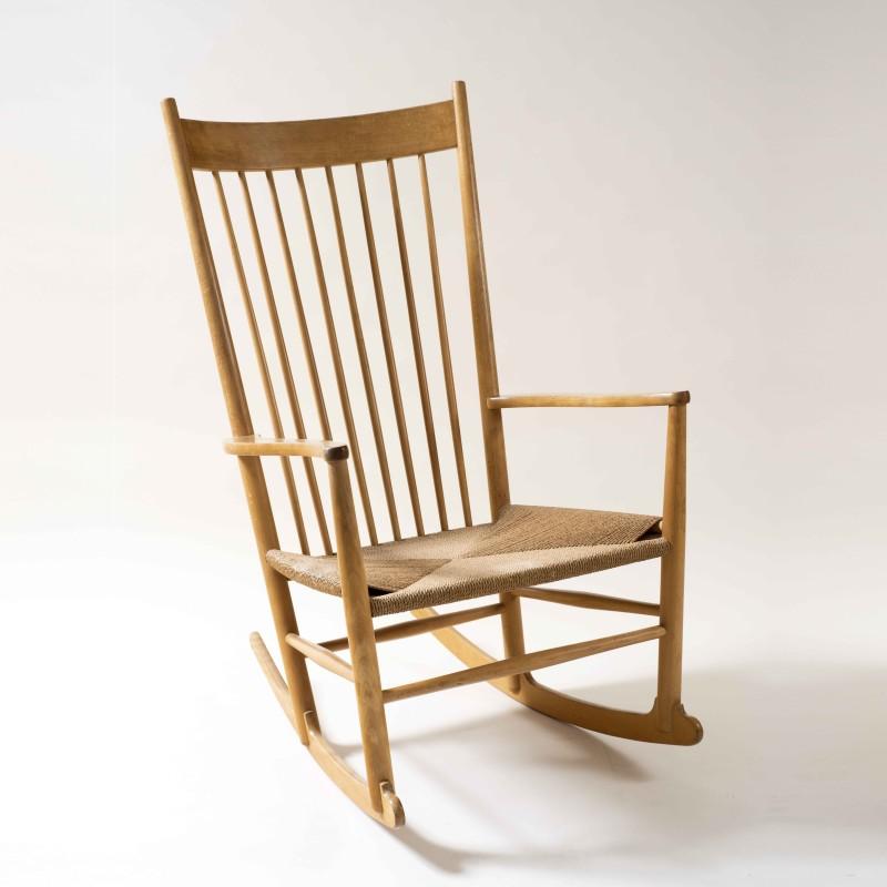 Hans Jørgensen Wegner, Vintage J16 Rocking Chair, designed 1943