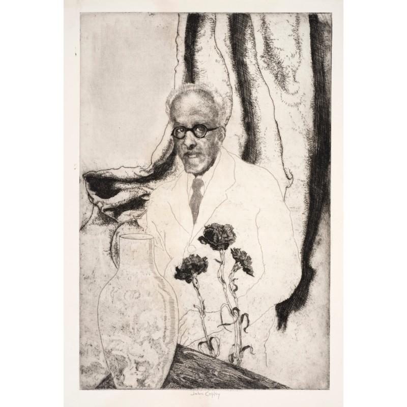 John Copley. The Pink Vase, 1949. Etching, 26 x 12.7 cm