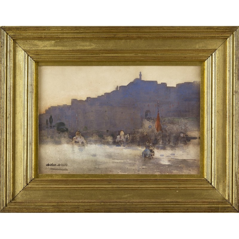 Arthur Melville ARSA RSW 1855-1904 Mosul at Dawn signed watercolour 12 ¼ x 18 ¼ inches