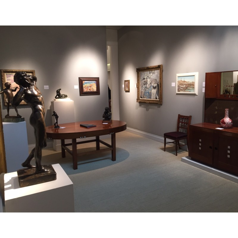 Installation view of The Fine Art Society stand, TEFAF 2016