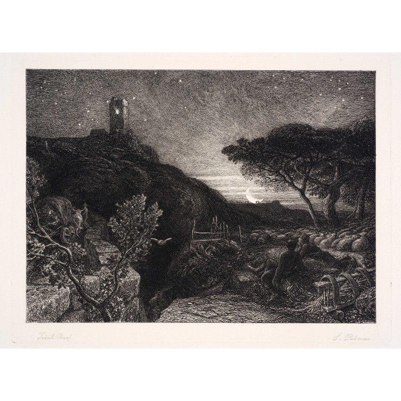 Samuel Palmer. The Lonely Tower, 1879. Etching, 32.5 x 42.3 cm