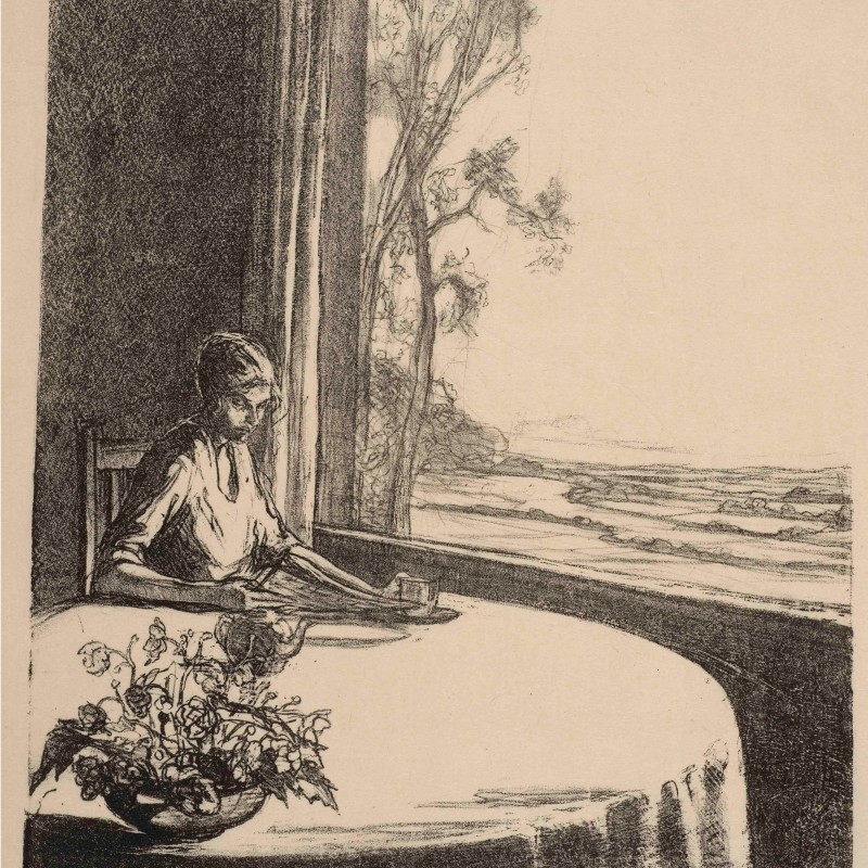 Ethel Gabain. A Window at Olantigh, 1923 (detail). Lithograph: edition of 24