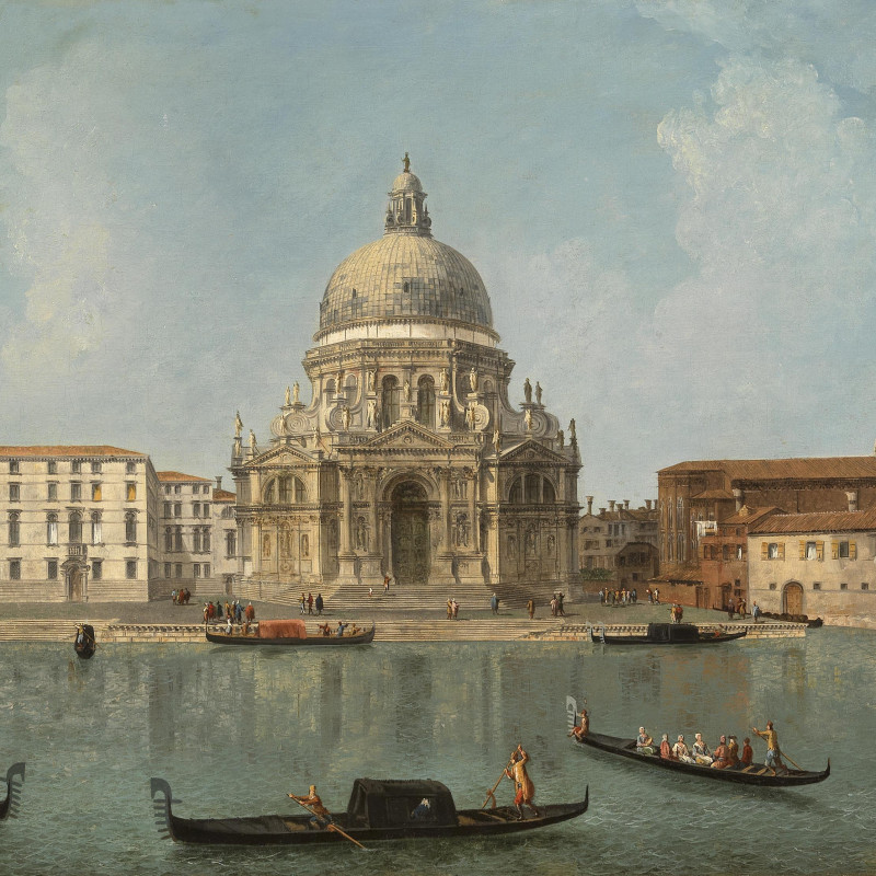 Michele Marieschi, Venice 1710 – 1743, Santa Maria della Salute (detail). Oil on canvas, 23 1⁄4 x 34 1⁄4 inches (59 x 87 cm)