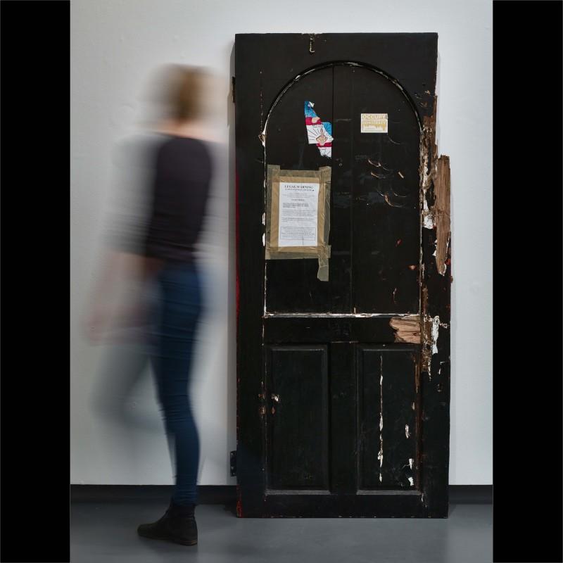Stuart Semple, 12 BAR DOOR 2015. Salvaged door from 12 Bar Soho