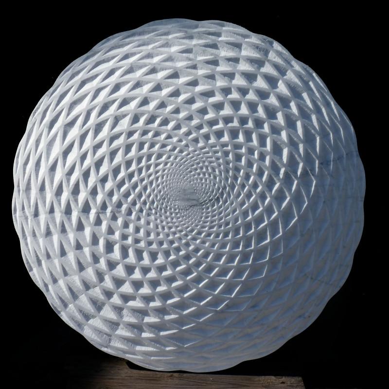 Tim Pomeroy, Pine Cone, 2014. Marble, Diameter 60 cm