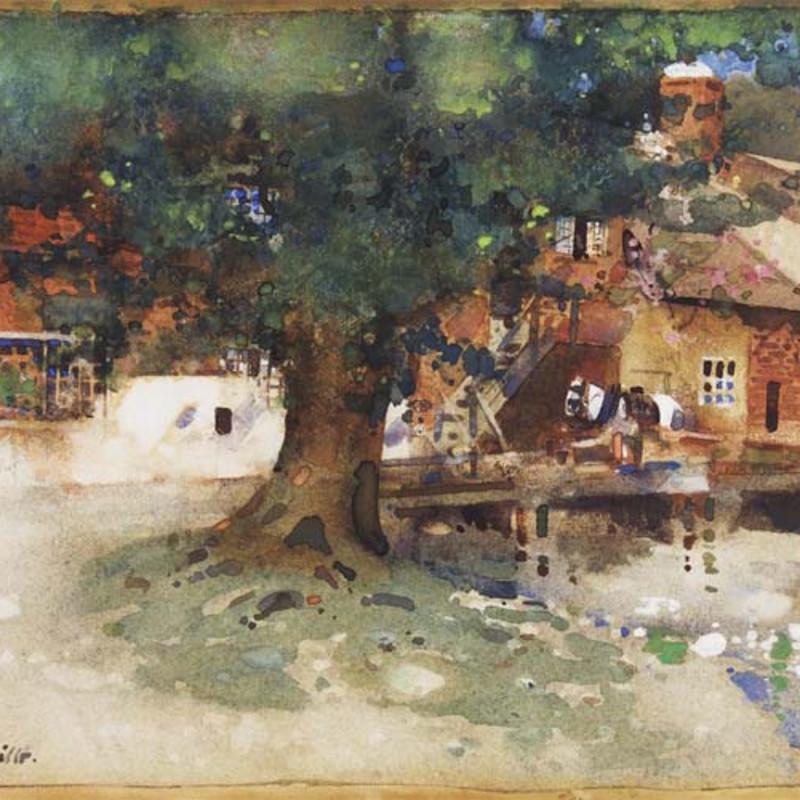 Arthur Melville, 1855-1904, Tobit's Mill, 1889 (detail). Watercolour, 10 x 15 1/2 inches (25.4 x 38.2 cm)