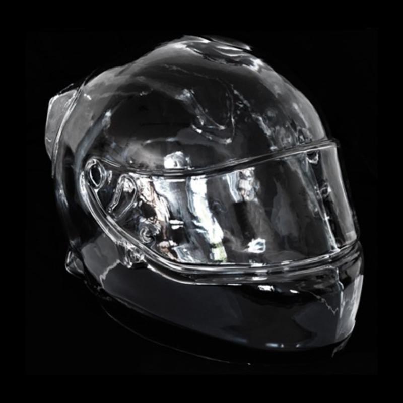 Angela Palmer, FI Helmet (Ed.1 of 4), 2014. Crystal glass, 25 x 24 x 23 cm