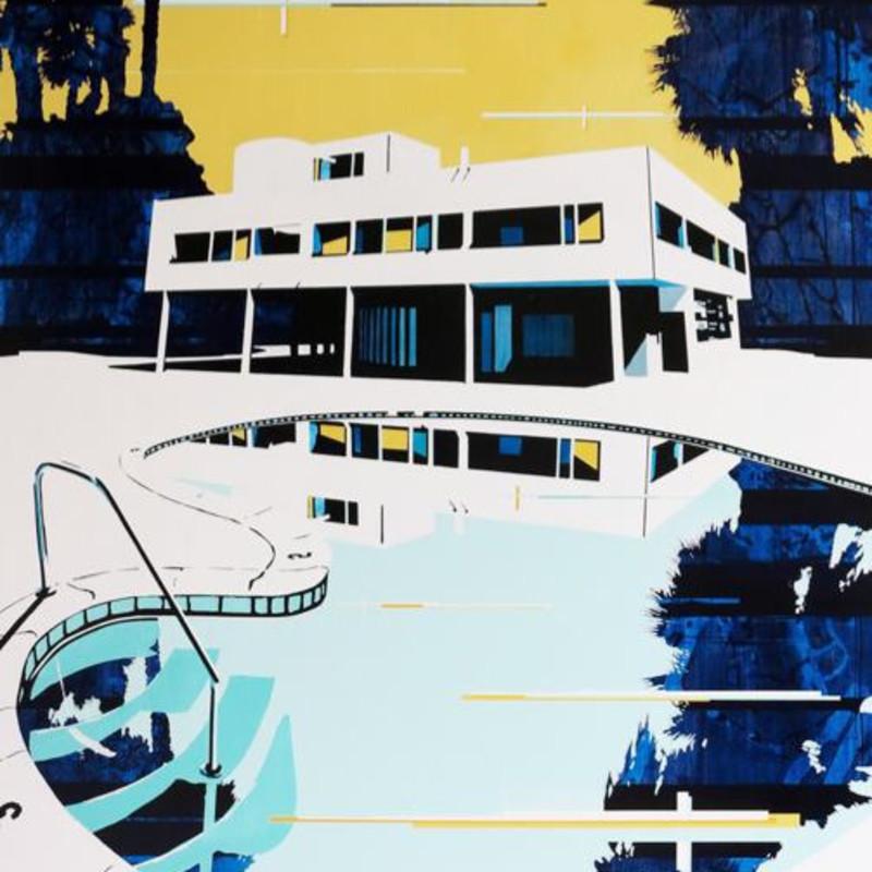 Paul Davies, Palms Home Pool, 2013 (detail). Acrylic on linen, 153 x 122 cm