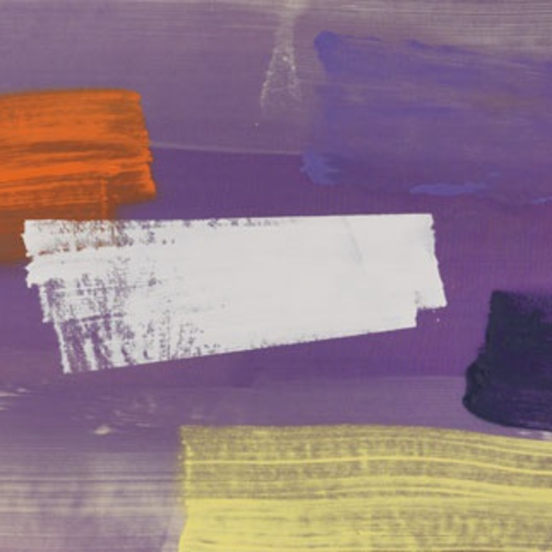 John McLean, Almighty Voice (detail), 1985. Acrylic on canvas, 29 1/4 x 78 1/4 inches