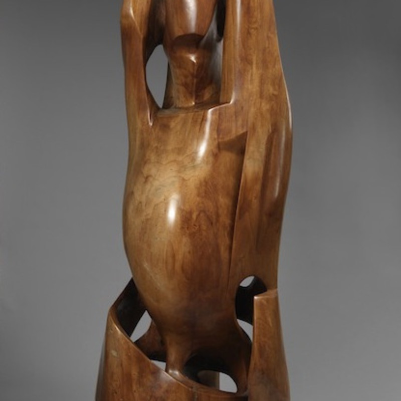 Gertrude Hermes, 1901-1983, Chrysalis II, 1959–62 (detail). Willow, 48 x 18 inches (123 x 46 cm)