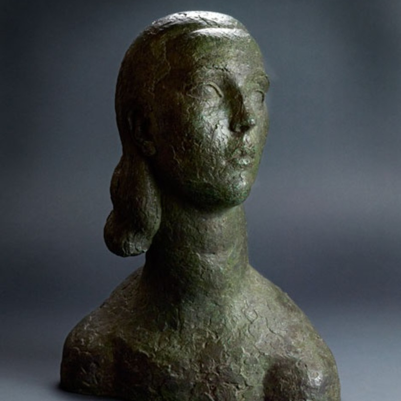 Frank Dobson, Rhoda, 1930. Unique bronze, height 20 inches / 51 cm. Incised: Dobson.