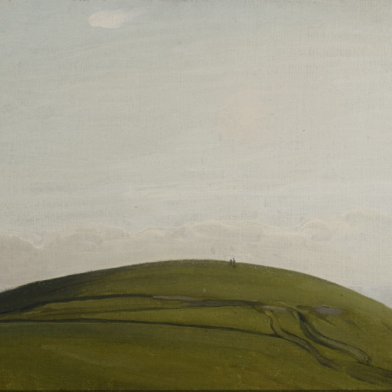 Sir William Nicholson, The Downs, Rottingdean, 1909 (detail). Oil on canvas laid on board, 11 3/4 x 15 3/4 inches (29.8x40cm)