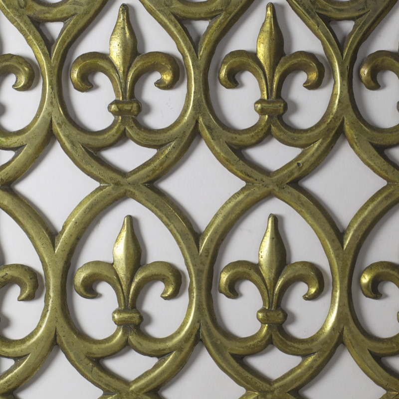 Door Grill (no 1 of a pair), c. 1845 (detail). Brass, Height 21 inches (53 cm), width 11 inches (28 cm). Designed for the Palace of Westminster