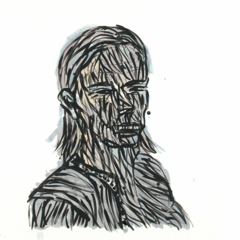 Alan Jones, Head of a Convict Woman, 2012. Acrylic on canvas, 92 x 87 cm