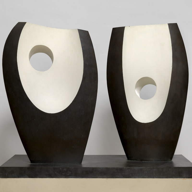 Barbera Hepworth | Two Forms with White (Greek), 1969