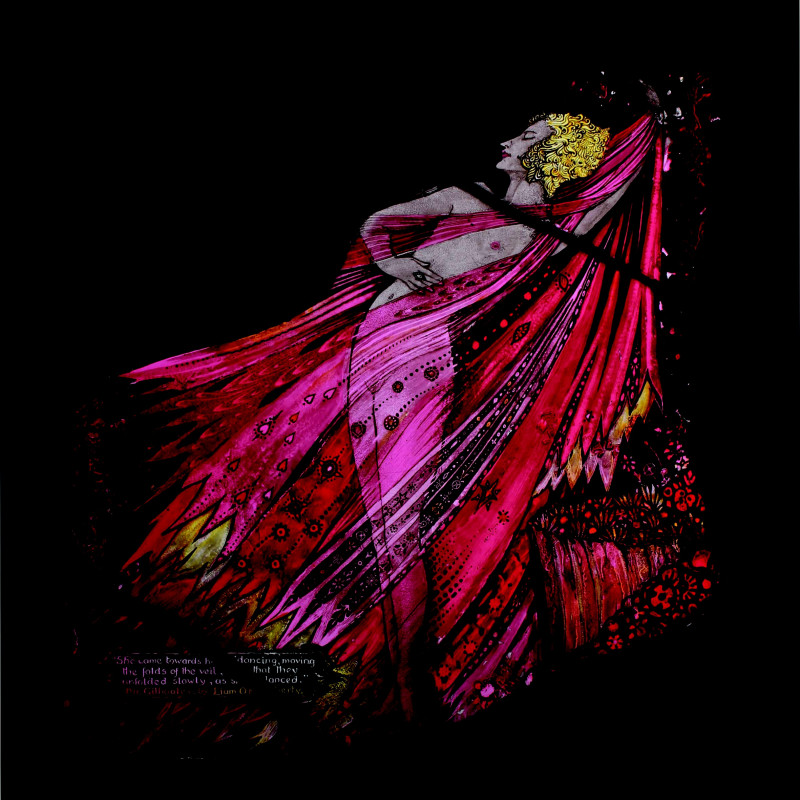 Harry Clarke, 'Mr Gilhooley by Liam O'Flaherty' for The Geneva Window, 1929. Sold to Dublin City Gallery.