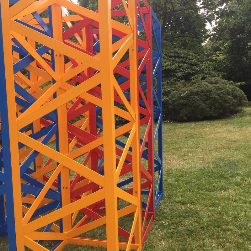 Rasheed Araeen, Summertime - The Regent's Park, 2017