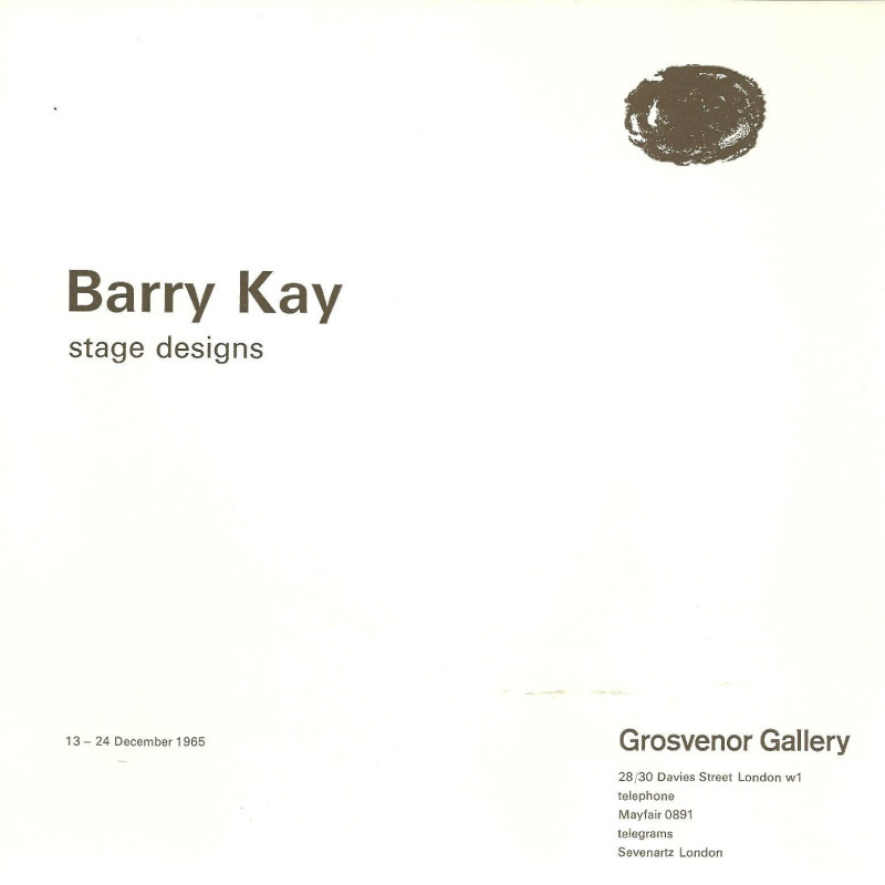 Barry Kay, Stage Designs