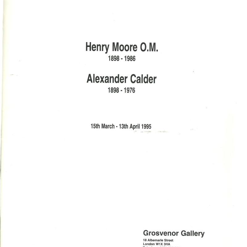 Henry Moore and Alexander Calder