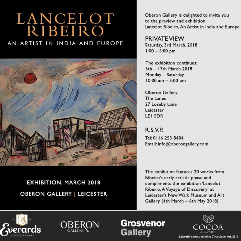 Lancelot Ribeiro: An Artist in India & Europe, Held at Oberon Gallery, Leicester