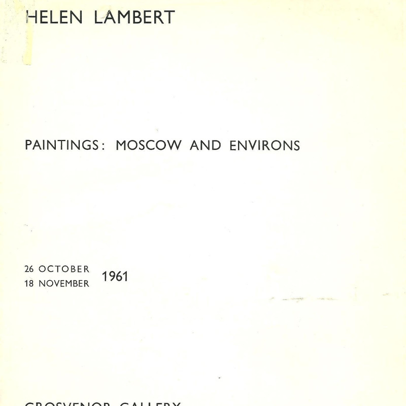 Helen Lambert, Paintings: Moscow and Environs