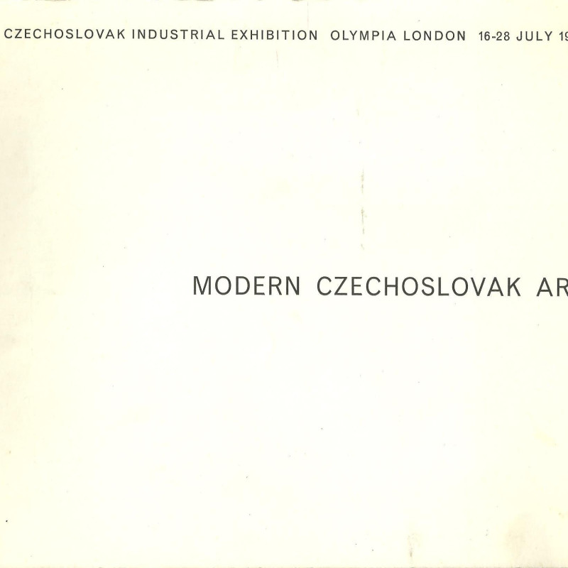 Modern Czechoslovak Art, Czechoslovak Industrial Exhibition Olympia London