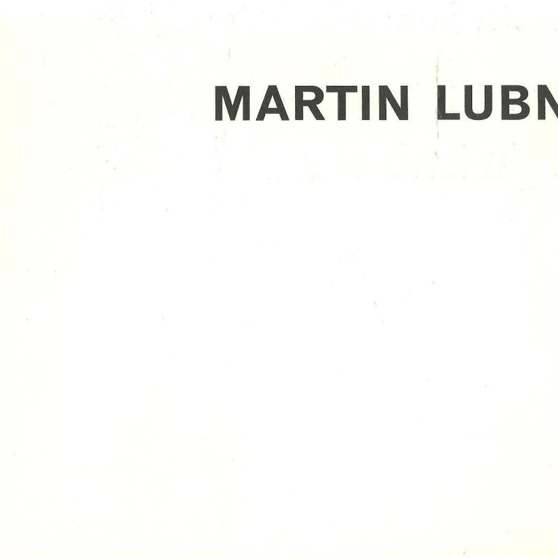 Martin Lubner, First London exhibition of paintings by the American artist