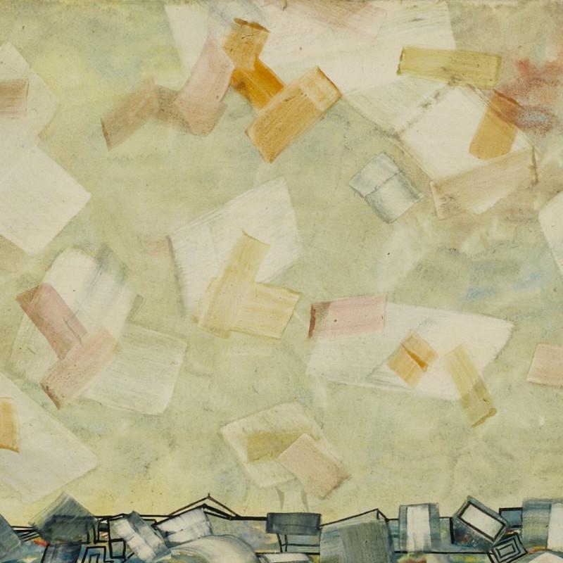 Lancelot Ribeiro, Grey Landscape, 1985