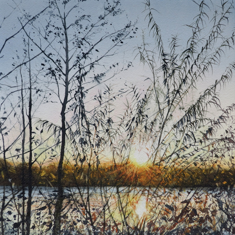 Deborah Walker RI RSMA  Sunset water, shiver