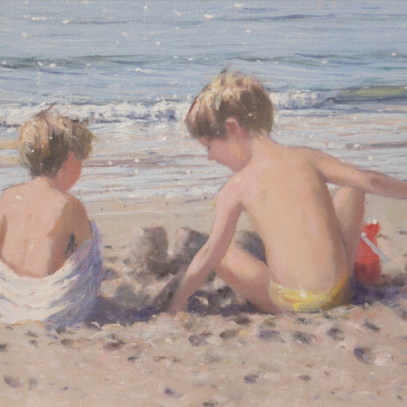Nicholas St John Rosse RSMA  Near the waters edge  Oil