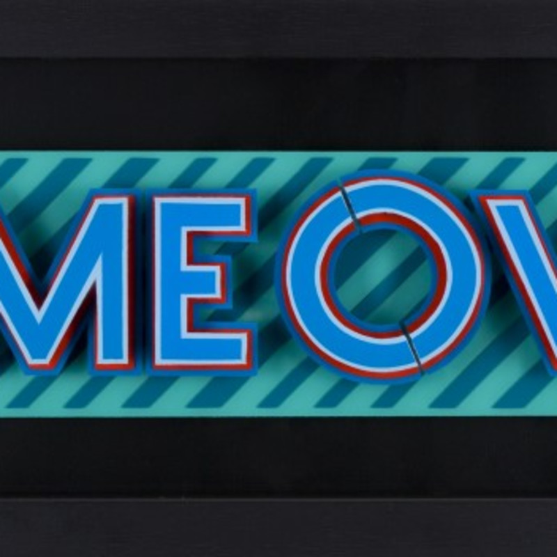 Static: Game Over- Pink & Blue