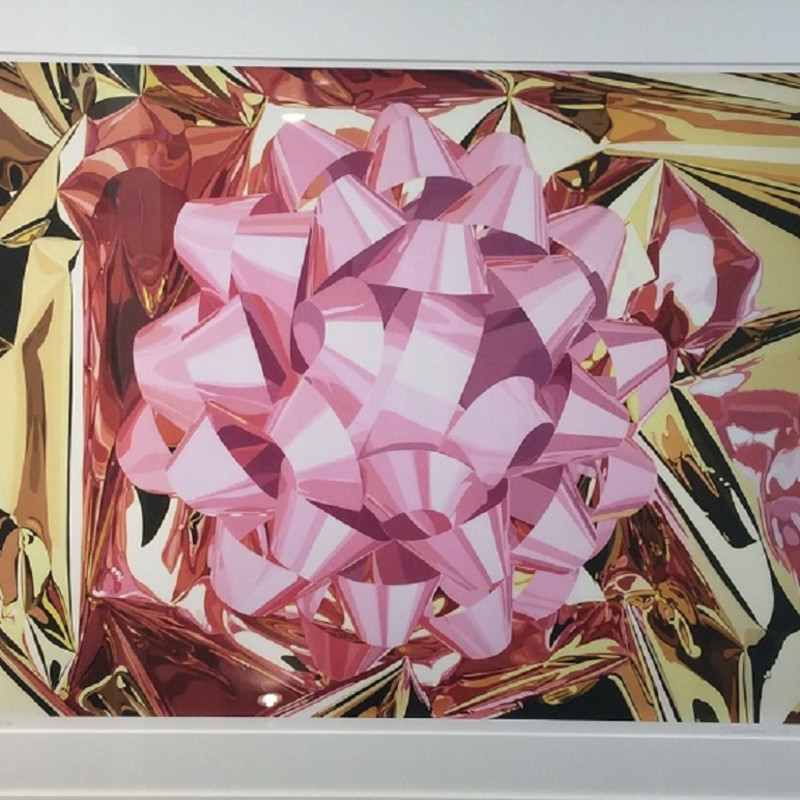 Jeff Koons: Pink Bow (Celebration series) 2013