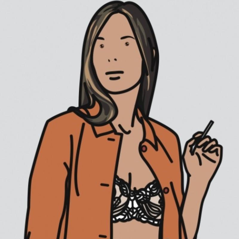 Julian Opie - Ruth Smoking 1