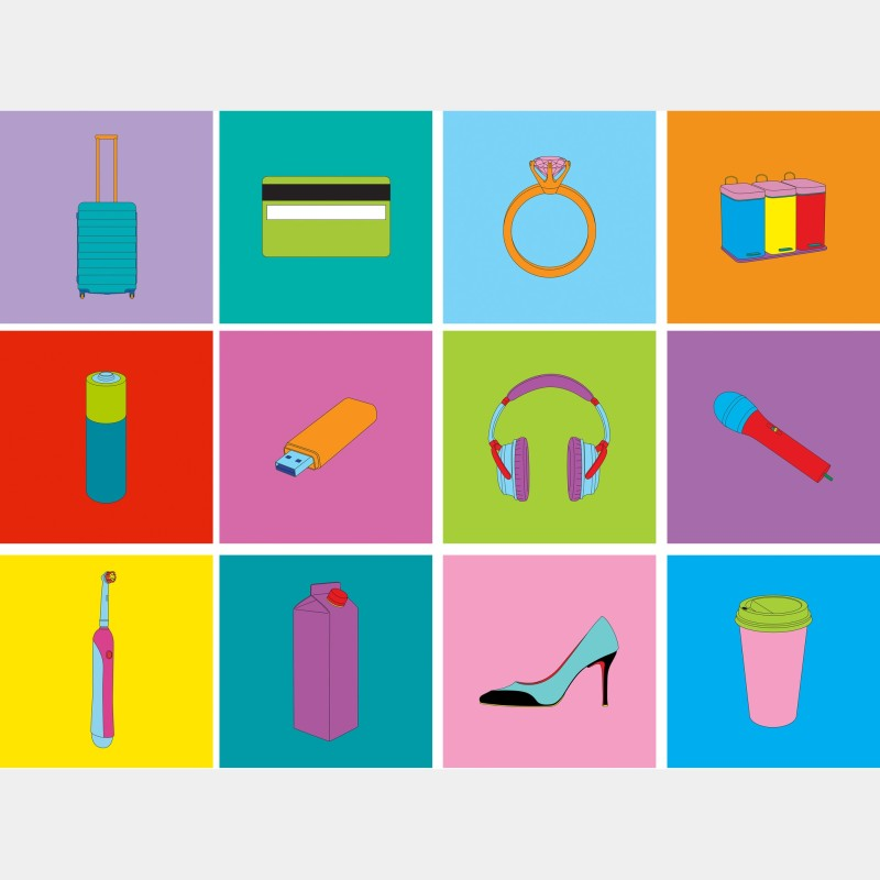 Michael Craig-Martin, Objects Of Our Time (Set), 2014
