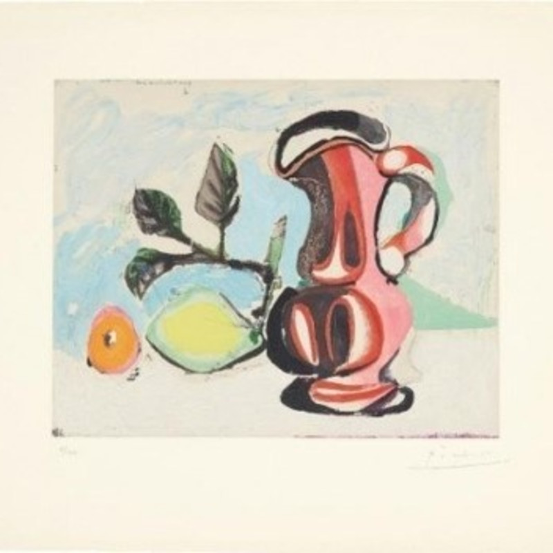 Pablo Picasso, Nature Morte Au Citron Et Pichet Rouge (Still Life with Lemon and Red Pitcher) , 1964