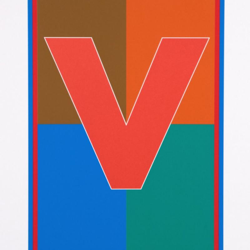 Peter Blake, Dazzle Alphabet - V