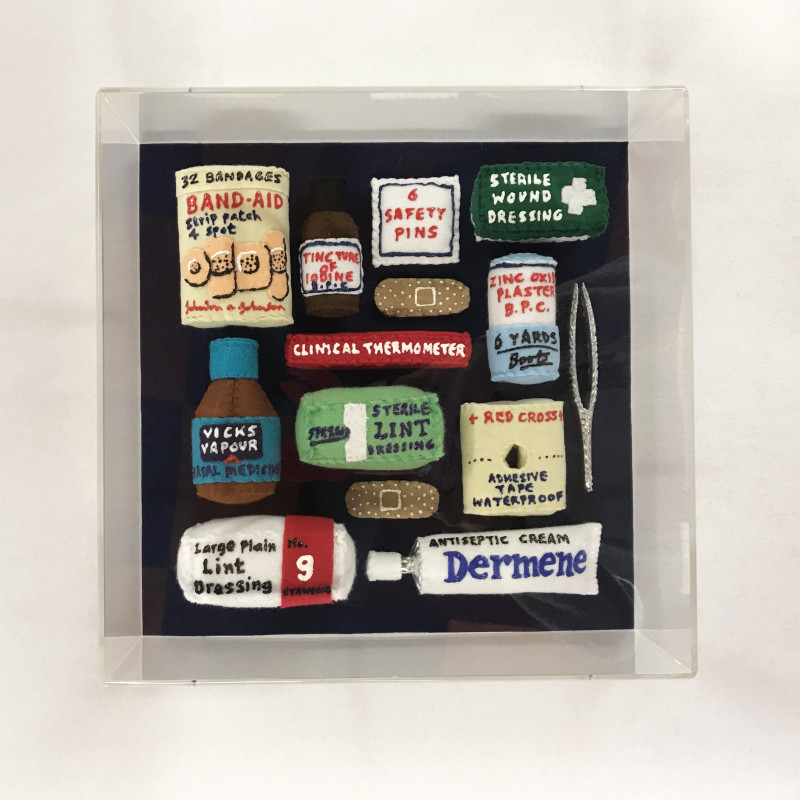Lucy Sparrow, Felt Aid Kit, 2017