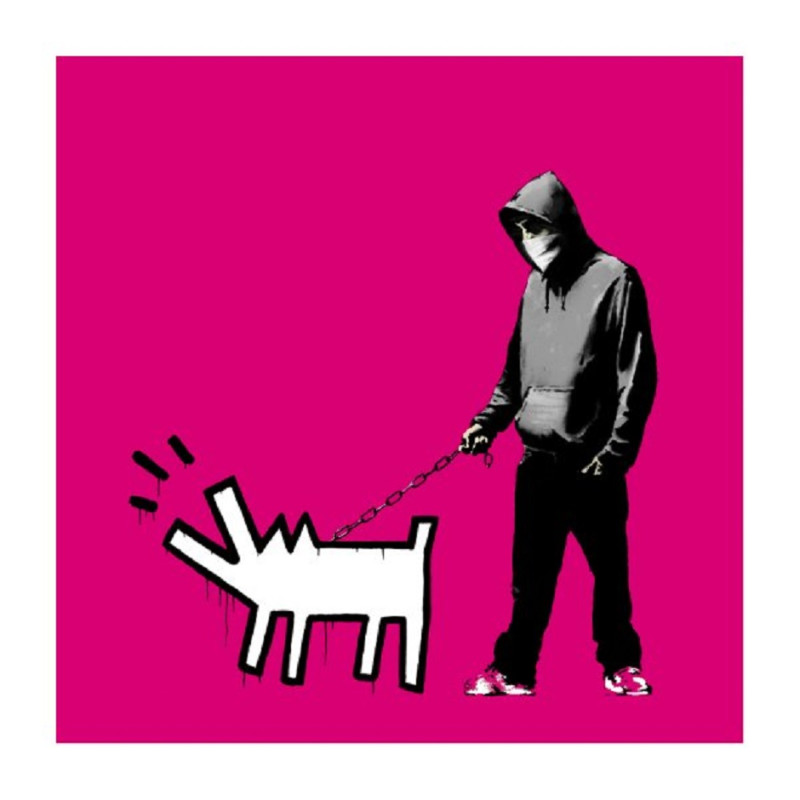 Banksy, Choose Your Weapon ( Magenta)