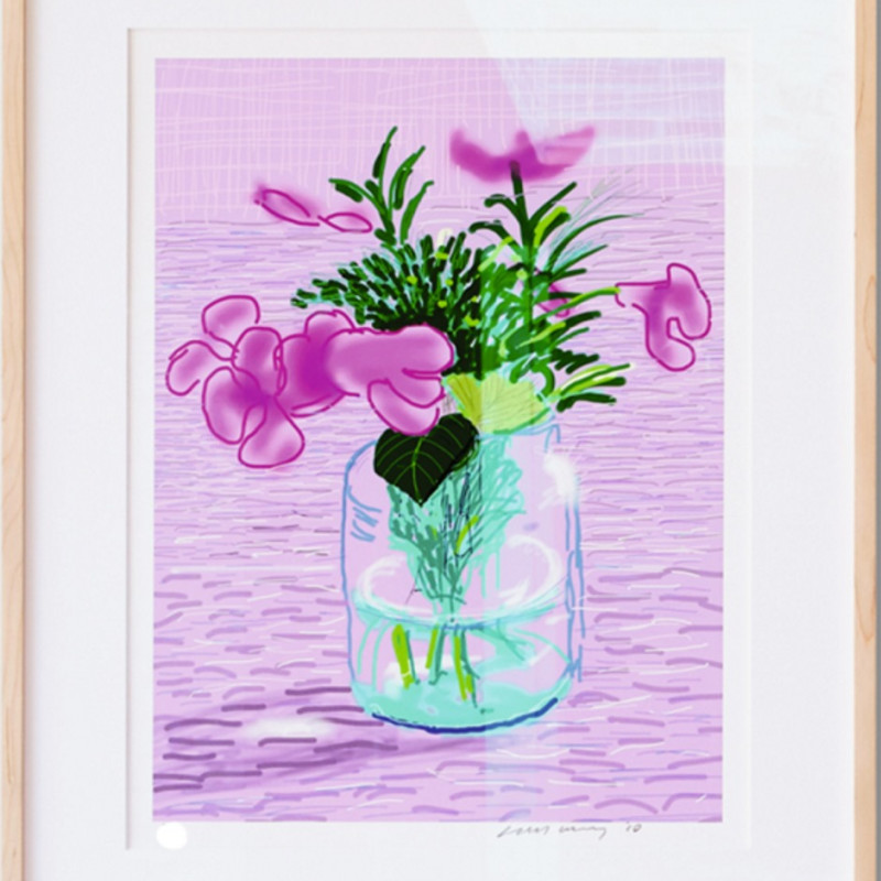 David Hockney - 'Untitled, 329' Lilac, iPad Drawing