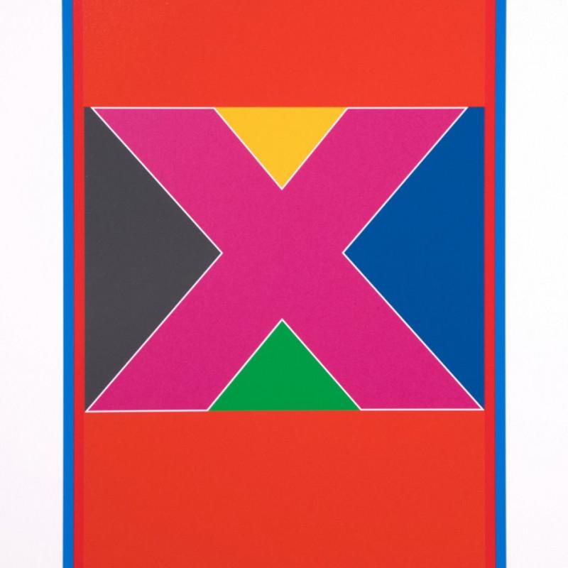Peter Blake, Dazzle Alphabet - X