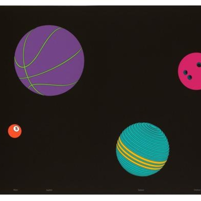 Michael Craig-Martin, The Planets, 2017