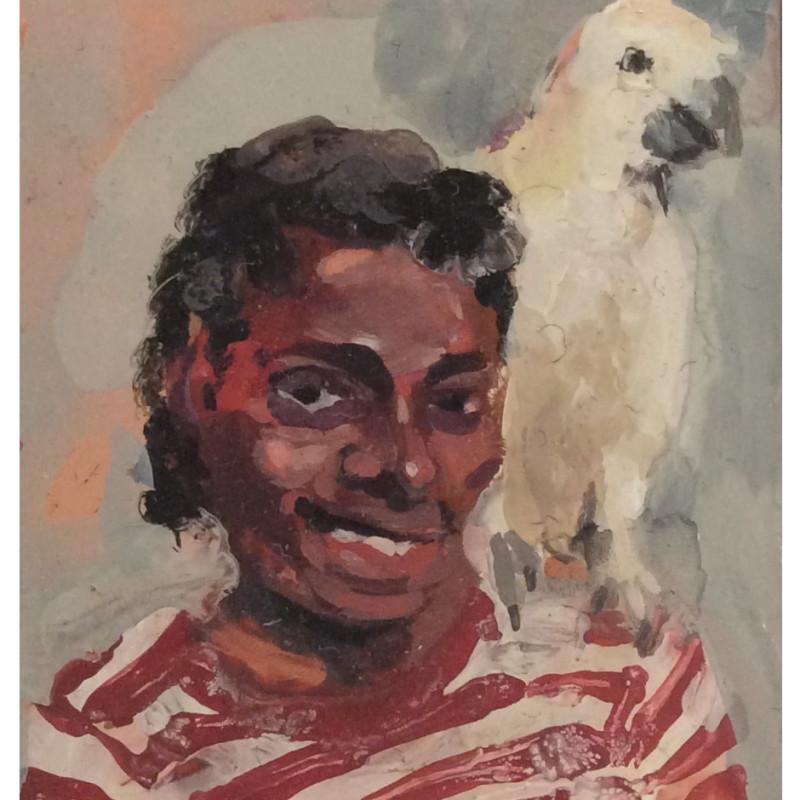 Geraldine Swayne, Michael Jackson with Parrot
