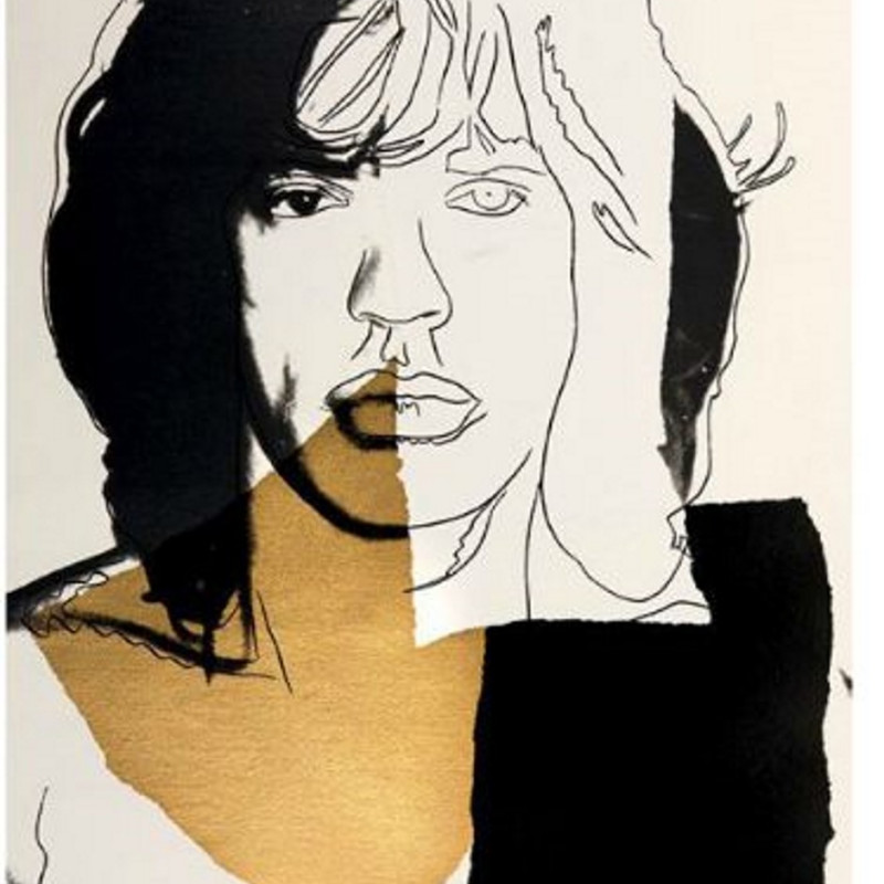 Andy Warhol, Mick Jagger, 1975