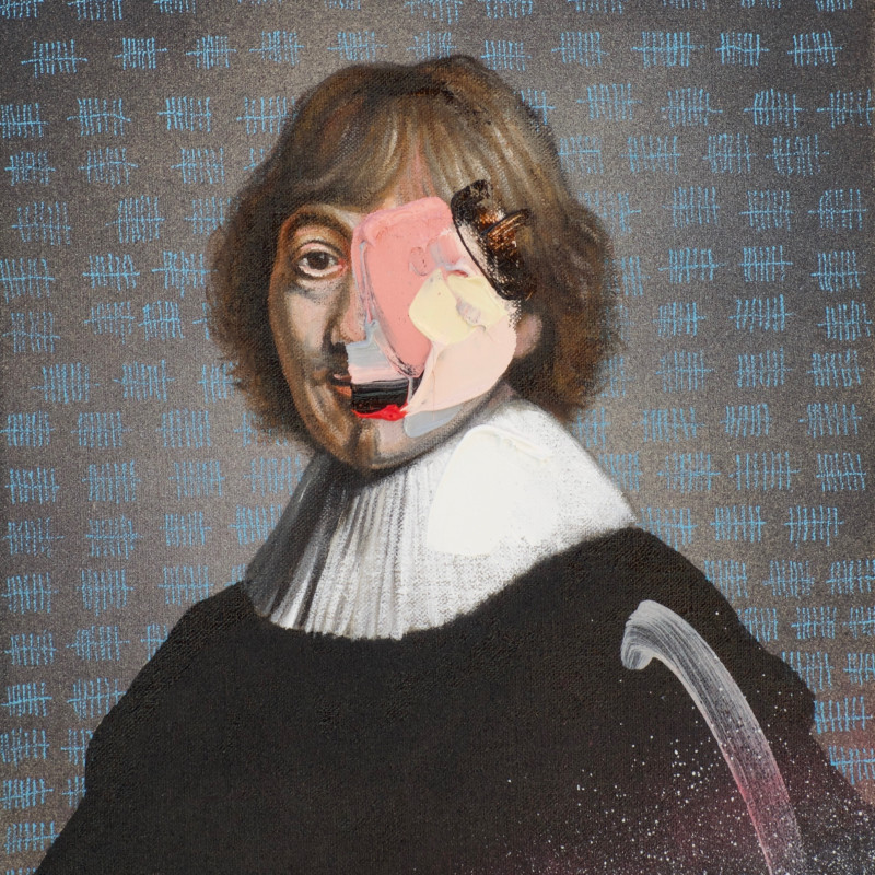 Frans Smit, After Rembrandt, Portrait of Jacob de Gheyn III, 2019