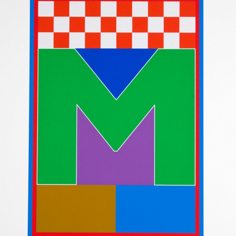 Peter Blake, Dazzle Alphabet - M