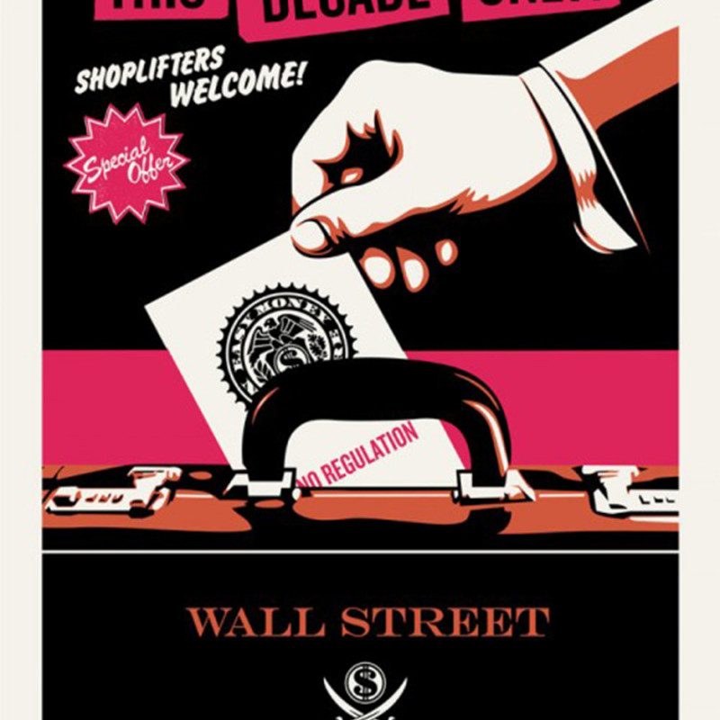 Jamie Reid & Shepard Fairey (OBEY) - Shoplifters Welcome - Pink