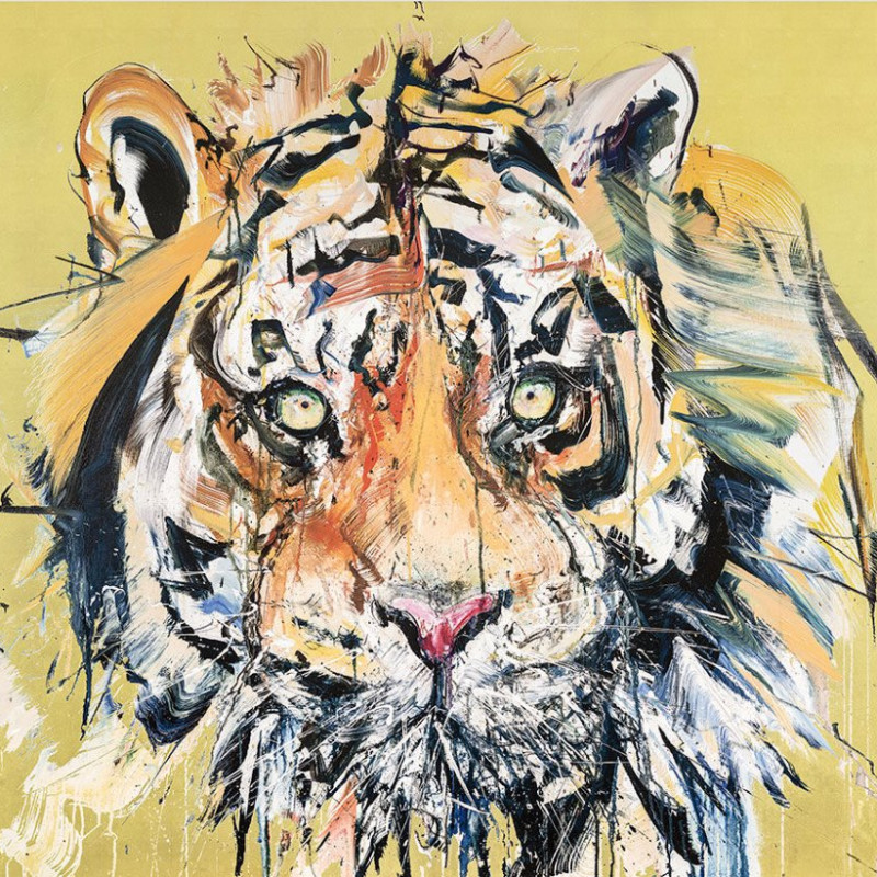Dave White, Tiger - Gold Leaf