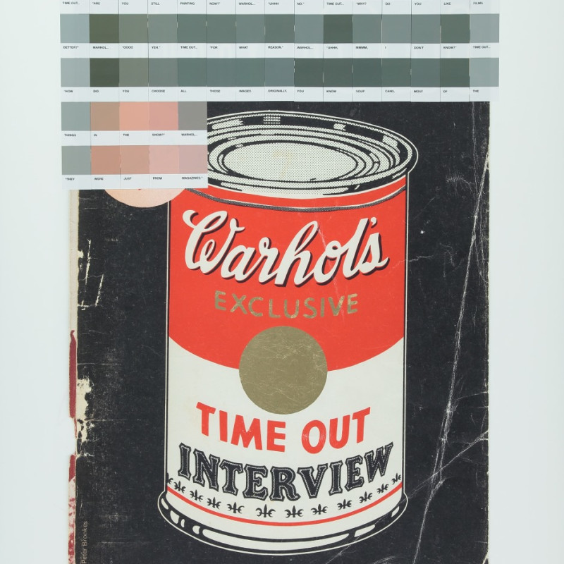 Nick Smith, Warhol Interview (Golf Leaf) , Time Out 1971